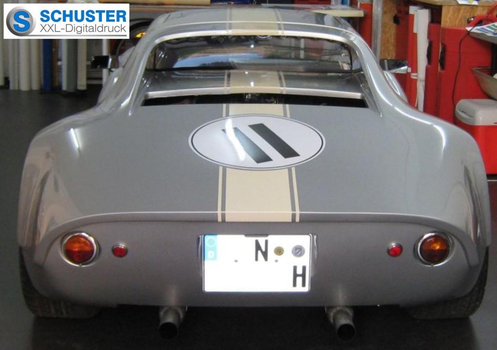 Porsche 904 mit Folienbeklebung und Digitaldruck